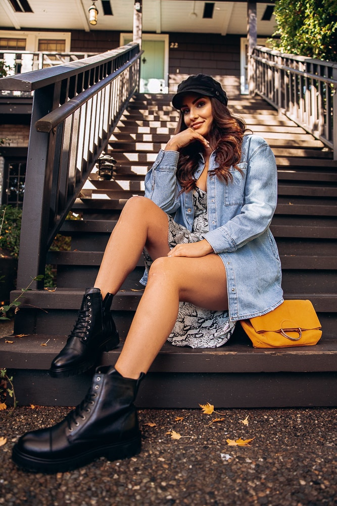 Olivia Merrill of The Denver Look Wears Aldo Shoes
